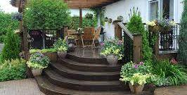 décoration de la terrasse