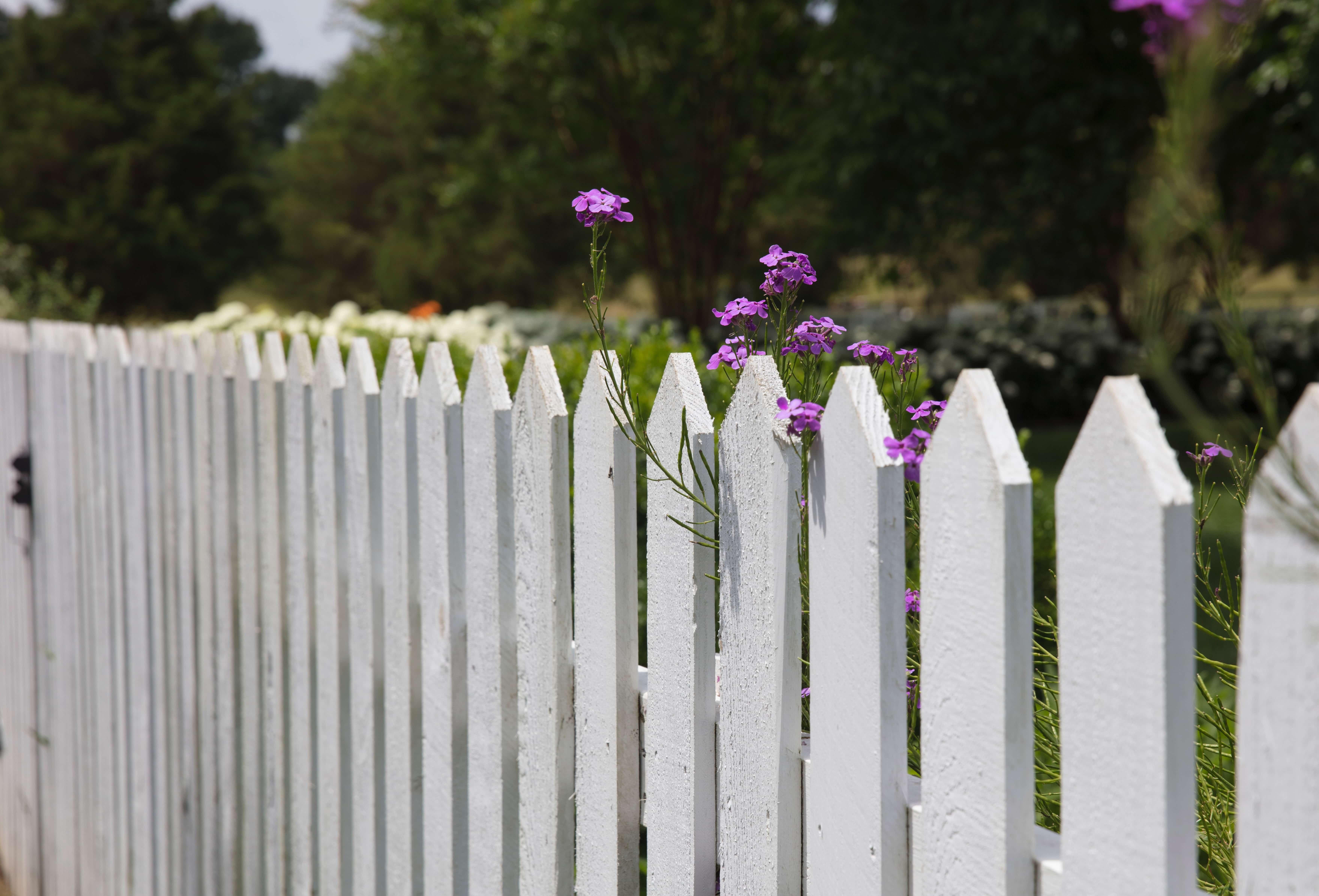 Une barrière en bois traditionnelle