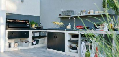 Cuisine d'extérieur design