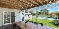 terrasse couverte en bois