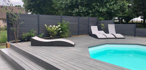 Terrasse en composite réalisée par Neowood